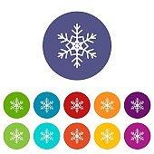 Snowflake set icons