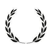 Laurel wreath isolated. Vector icon illustration.