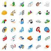 Inspiration icons set, isometric style
