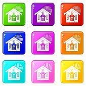 House icons 9 set