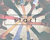 Start Beginning Success Ready Motivate Concept