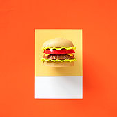 Hamburger fast food toy object