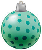 Illustration of bauble for Christmas tree decoration
