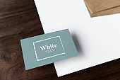 Set of documents and name card mockups