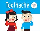 Toothache Concept Vector. Oral Toothache Concept. Sad Patient Suffering From Toothache. Cartoon Vector illustration Eps10 flat design