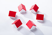 House Models Arranged In Circle