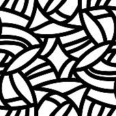 Seamless vector pattern with lines and particles on white background