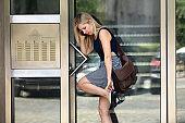 Young Woman Wearing High Heels
