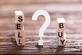 Buy Or Sell Option With Question Mark Sign