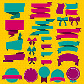 Colorful Blank Design Elements Set
