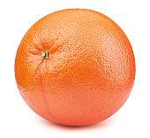 Whole orange grapefruit isolated on the white