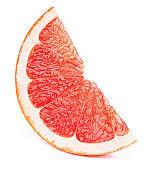 Grapefruit fruit slice isolated on white