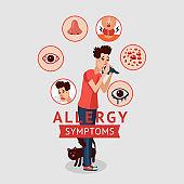 Allergy Symptoms Concept