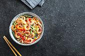 Stir fry with  shrimps (prawns)