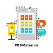 POS Materials Flat Illustration