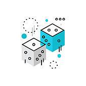 Dice Rolls Monoflat Icon