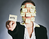 Multi-tasking woman with many roles including wife