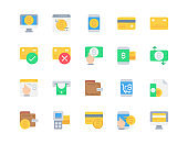 Flat icon set of Payment for website mobile app and more . Pixel perfect icons design