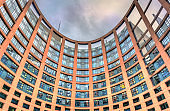 Inner courtyard of the European Parliament building in Strasbourg, France