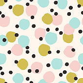 Vector cute texture with Ink Dots.
