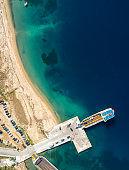 Ferry at Tripiti, Greece