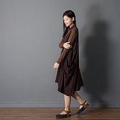 Mori Girl Asian woman model / relax at home