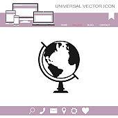 Globe vector icon.