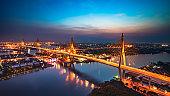 Beautiful bridge and river