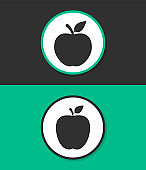 Apple vector icon.
