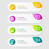 illustration of infographic elements layout 4 steps