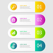 illustration of infographic elements layout 4 steps vector background