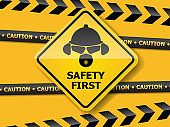 illustration of safety first  background