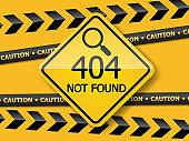 404 error page not found label