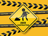 under construction road sign work in progress