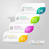 infographics elements layout 4 steps for business presentation