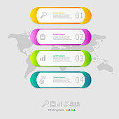 illustration of capsule infographic elements layout 4 steps for business presentation
