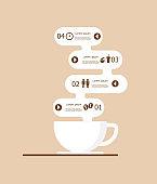 coffee infographics vector background