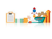 business startup concept vector flat design