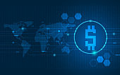 abstract technology background digital money