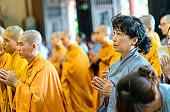Buddhist praying Buddha in Buddha's birthday celebrations