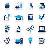 Education Two Color Icons Set