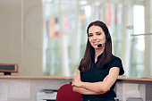Call Center Customer Service Operator at Workplace