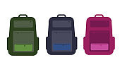 Backpack isolated on white background. Solid and flat style trendy modern vector illustration