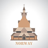 Stave church in Borgund icon