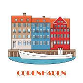 Copenhagen Denmark, old european city