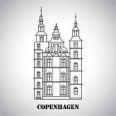 Rosenborg Castle. The symbol of Copenhagen, Denmark