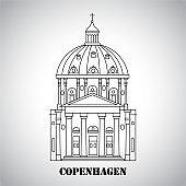 Frederik's church in Copenhagen, Denmark