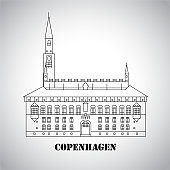 City Hall Square in Copenhagen Denmark