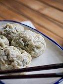 Asian food dumplings, Dim sum, MeatDumplings