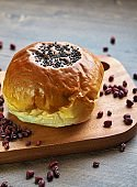 red bean bread and  Sweet pumpkin sikhye
